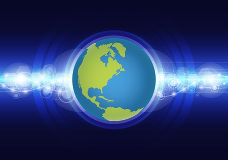 world technology concept Vector