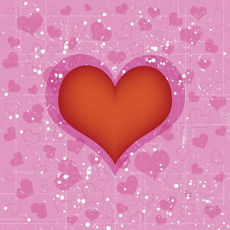 pink grungy heart  Stock Vector - 12872540