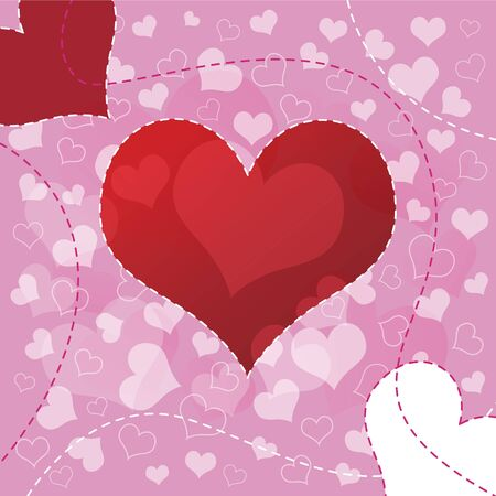 Heart background design  Stock Vector - 12872440