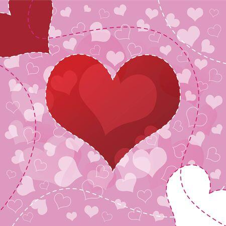 Heart background design Stock Vector - 12872440