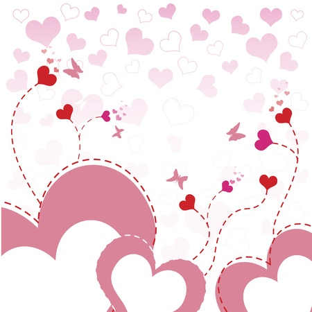 heart flower background design  Vector