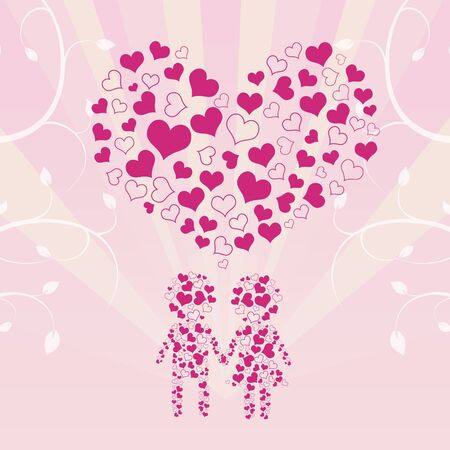 human in love background Stock Vector - 12872500