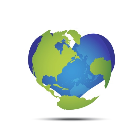 Love the world; metaphorical about protect the world  Vector