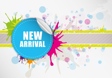 New arrival label design