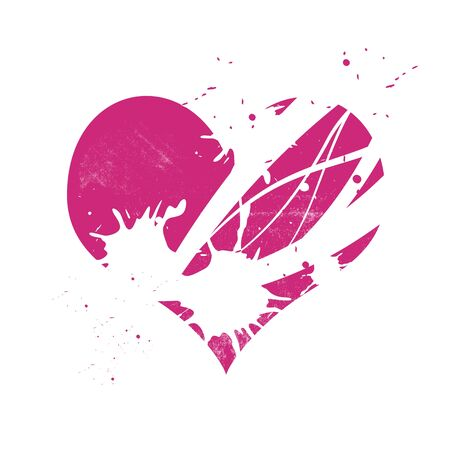 pink grungy heart Stock Vector - 12872553