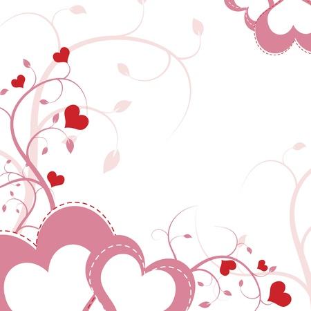 heart flower background design Stock Vector - 12872397