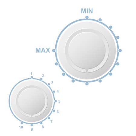 white spin button