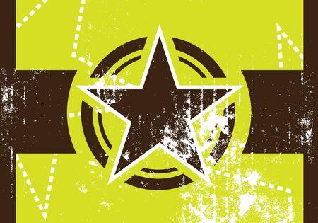 grunge star retro background Stock Vector - 12872644