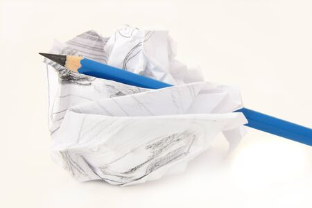 pencil and crushed drawing paper Stock Photo - 12980945