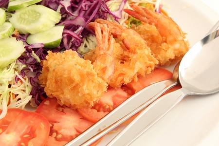 fried shrimp salad  photo