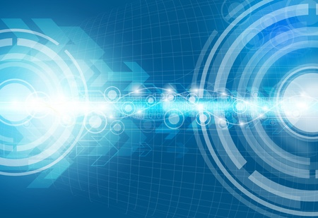 Abstract technology background, Blue theme