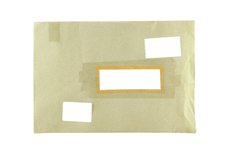 Brown Envelope document on white background  Stock Photo - 13016962
