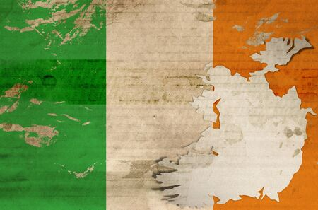 Old Ireland flag photo