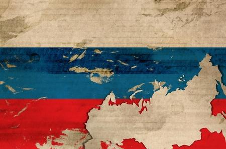 bandera rusia: Antiguo bandera de Rusia Foto de archivo