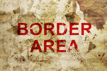 Border area sign  photo