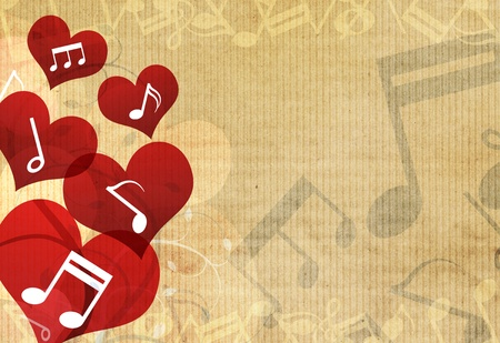 love wallpaper: m�sica en el dise�o del coraz�n de fondo
