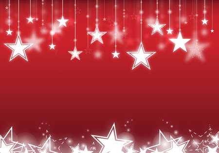 Stars hanging down with red background Stock Photo - 13081969