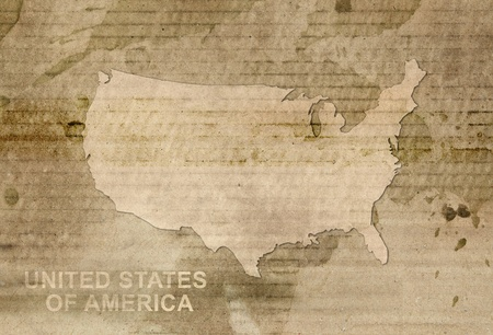 usa map old style photo