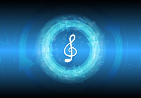 abstract music note background Vector
