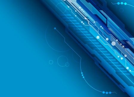 Blue digital background Stock Vector - 13177238