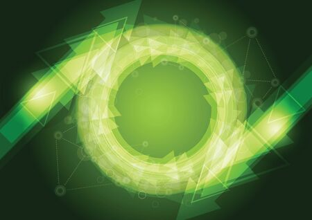 media center: dark green abstract background