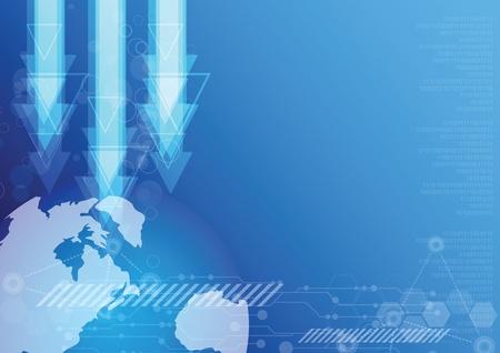 world technology background design Stock Vector - 13177234
