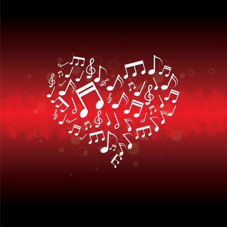 music in heart background Stok Fotoğraf - 13177223