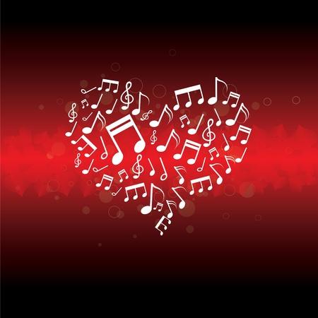 muziek in hart achtergrond