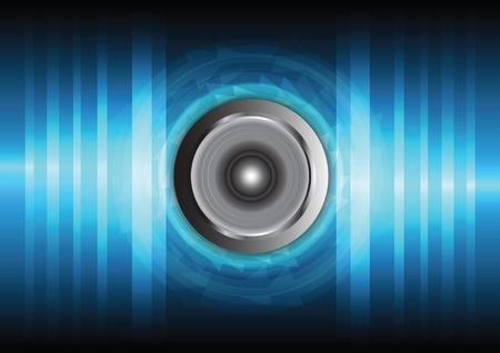 speaker and sound wave Stock Vector - 13177360