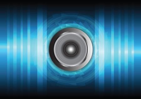 surround: speaker and sound wave Illustration