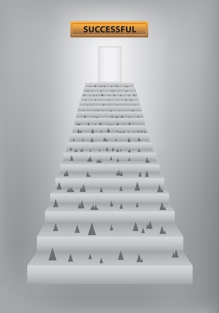 stairway to success Stock Vector - 13177225