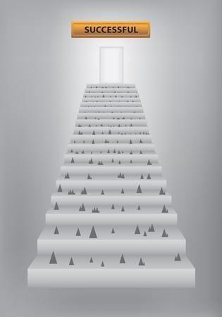 step ladder: stairway to success