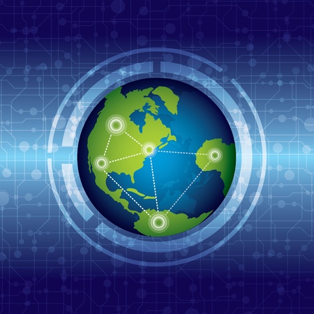 global connection Stock Vector - 13177224