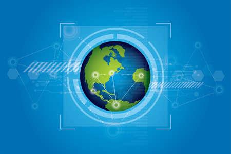 world technology background design Stock Vector - 13177232