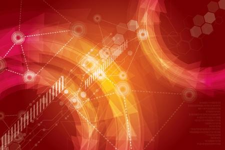 technologie ontwerp achtergrond Stock Illustratie