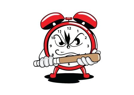 alarm clock angry