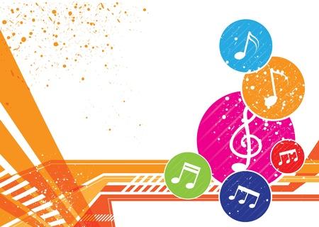 Muziek notities icoon achtergrond ontwerp Stock Illustratie