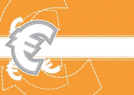 Euro money icon background design Stock Vector - 13177368
