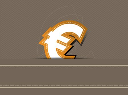 Euro money icon design on retro background Vector