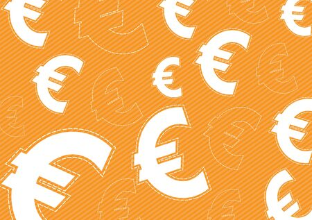 Euro money icon on orange background Vector