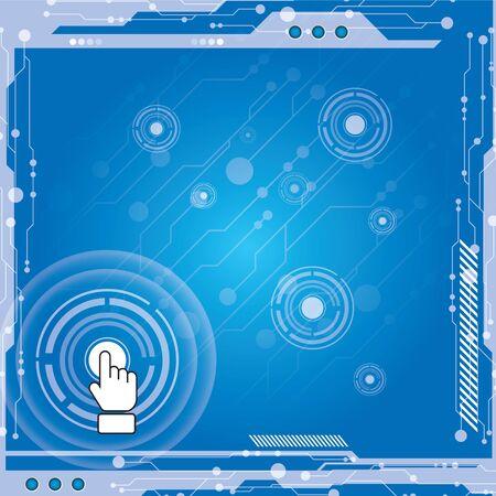 multimedia background: Interface modern technology Illustration