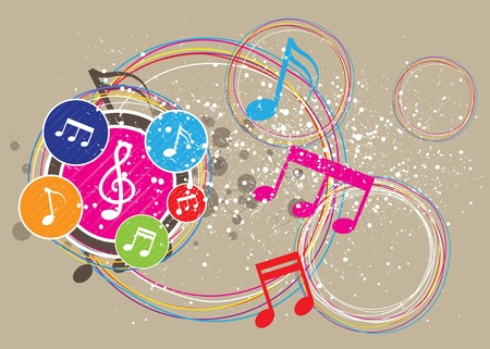 Music festival background Vector