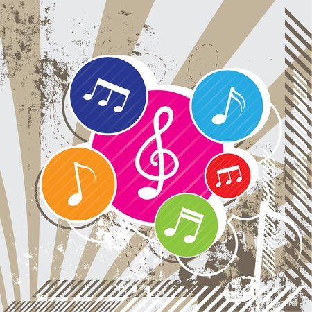 Music festival on grunge Illustration