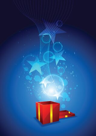 magic from giftbox Vector