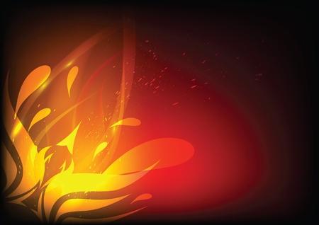 phoenix bird: Phoenix in fire