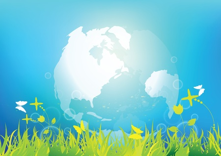 environmental awareness: clean and fresh world