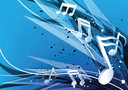 music design: la m�sica de fondo azul de dise�o Vectores