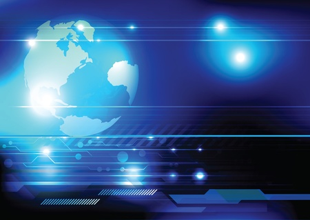 espejismo: mundo de la tecnolog�a concepto