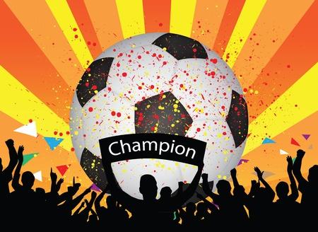 cheering crowd: soccer celebration