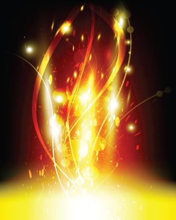 mirage: flame illustration